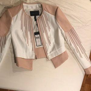 Bcbgmaxazria jacket NWT pink and white jacket